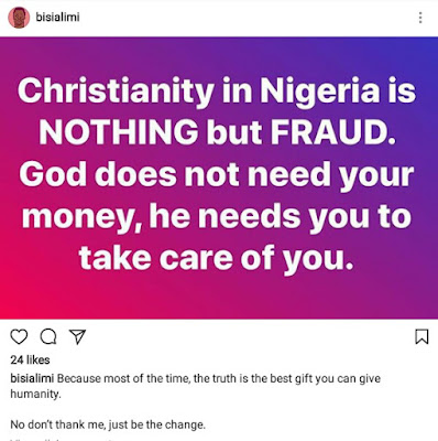Christianity in Nigeria is nothing but fraud - Gay right activist, Bisi Alimi