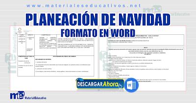 PLANEACIÓN DE NAVIDAD FORMATO EN WORD