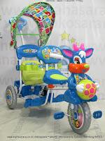 royal baby ball sepeda roda tiga 2 kursi