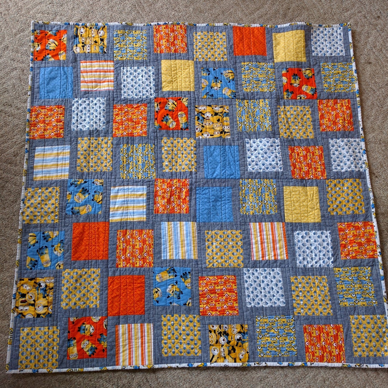 Minion Quilt for My Little Minion : A Finished Quilt : minion quilt - Adamdwight.com