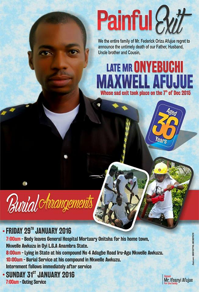 nigerian firefighter died line of duty