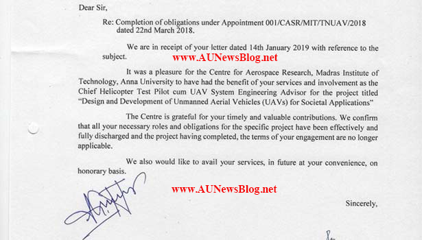 Anna University sends appreciation letter to Thala Ajith Kumar