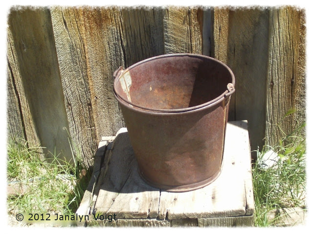 Metal bucket at Bodie ghost town