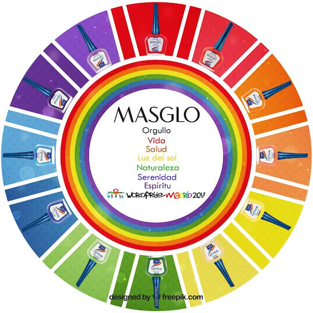 Celebra todos los colores del Arco-Iris con Masglo