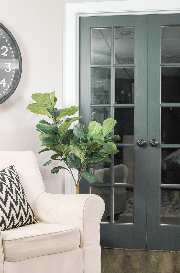 dark paint interior french doors