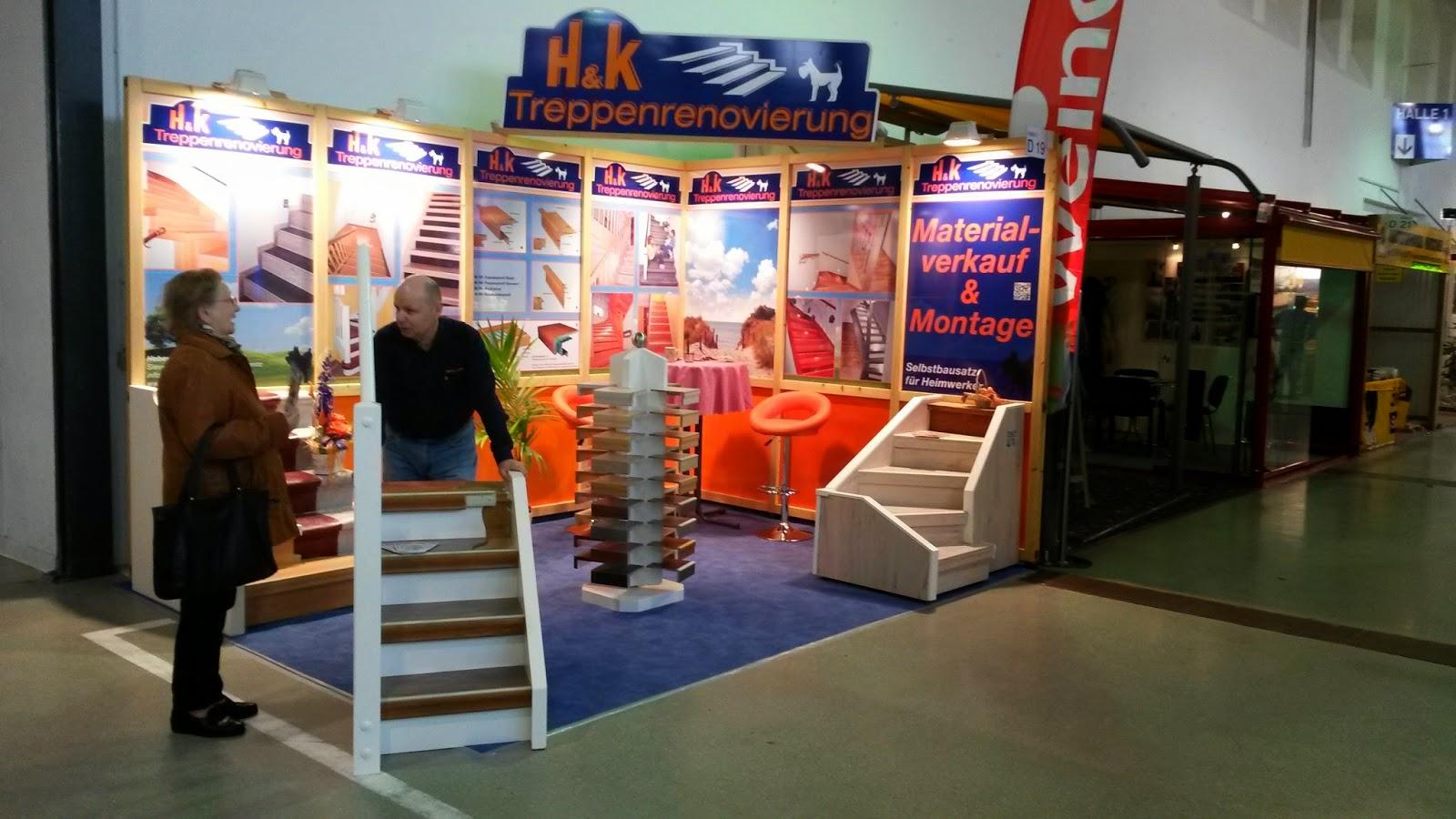 HK Treppenrenovierung - Messe-Stand Haus Dresden 2014