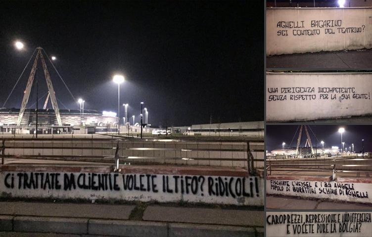 Grafiti izvan stadiona sa uvredama na račun Agnellija