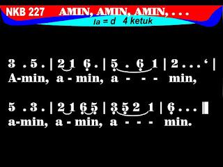 Lirik dan Not NKB 227 Amin, Amin, Amin
