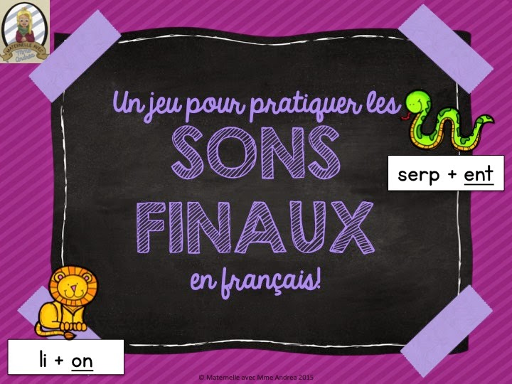 https://www.teacherspayteachers.com/Product/JeuCentre-Sons-finaux-FRENCH-Ending-Sounds-GameLiteracy-Centre-1775196