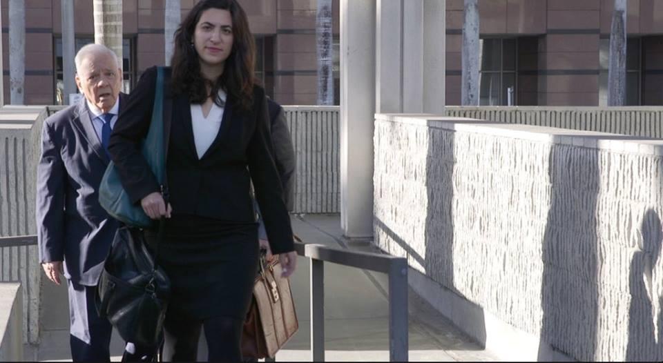 Sánchez de Lozada llegando a las 7am a la corte de La Florida / LUIS VELARDE