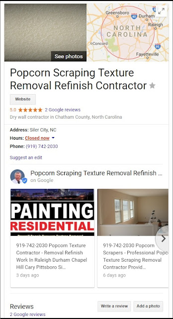 919-742-2030 Ceiling Spray Removal Durham Chapel Hill Cary Chatham NC