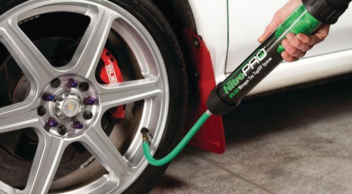 Using Nitrogen gas filled tires