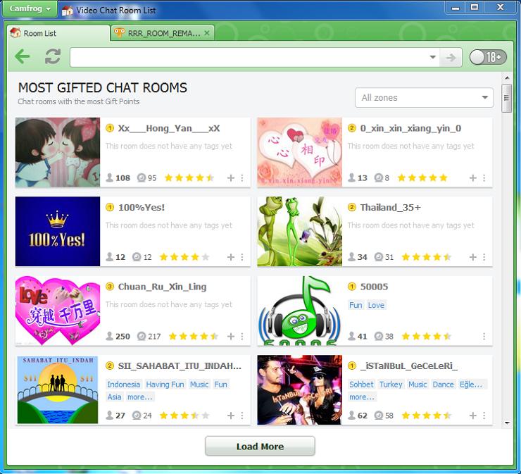 Camfrog Room Most Gifted List versi 6.8