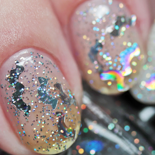 Nail Hoot Indie Lacquers Attack of the Holographic Bats