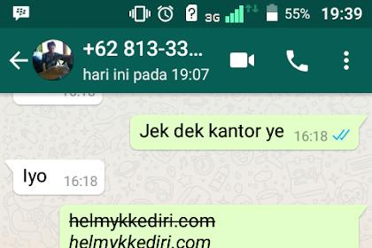 Cara merubah huruf pada pesan whatsapp