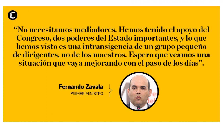 Esto dijo Fernando Zavala sobre la aprobación de PPK, la huelga de maestros y su bancada