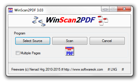 convertir des fichiers PDF vers Word winscan2pdf