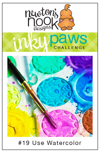 Inky Paws Challenge #19 | Watercolor | Newton's Nook Designs