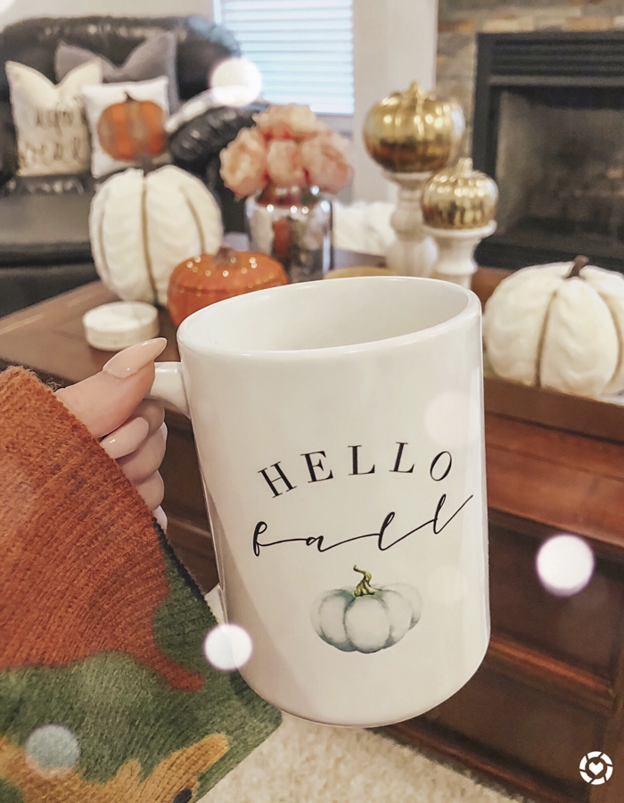 sweet mint handmade hello fall mug