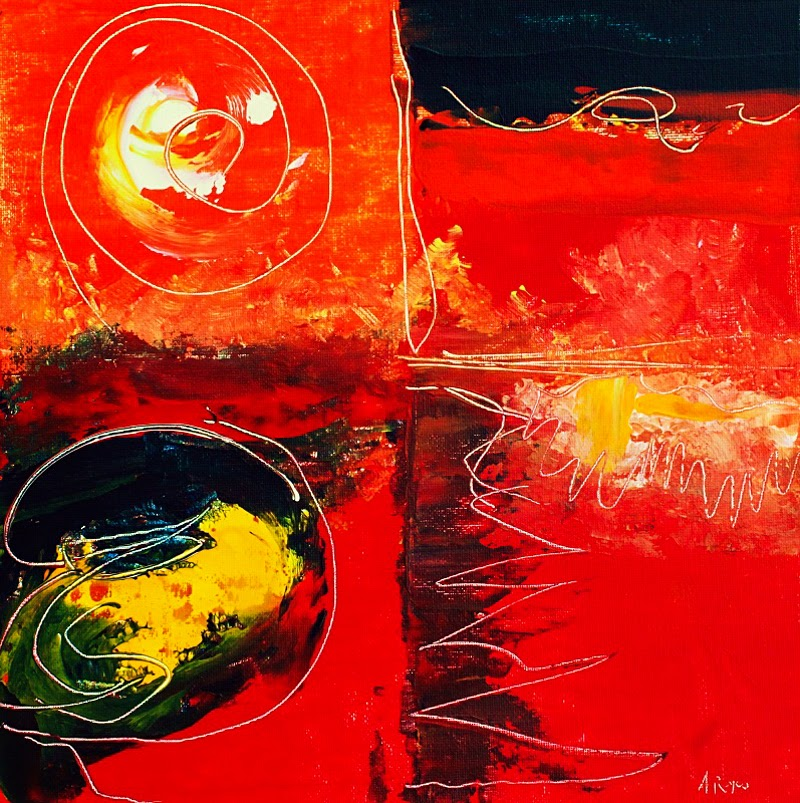 Abstract Expressionistic Paintings by Angel Reyes.