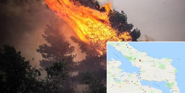 Ανεξέλεγκτη η πύρινη λαίλαπα στην Εύβοια - Ενισχύονται οι δυνάμεις πυρόσβεσης