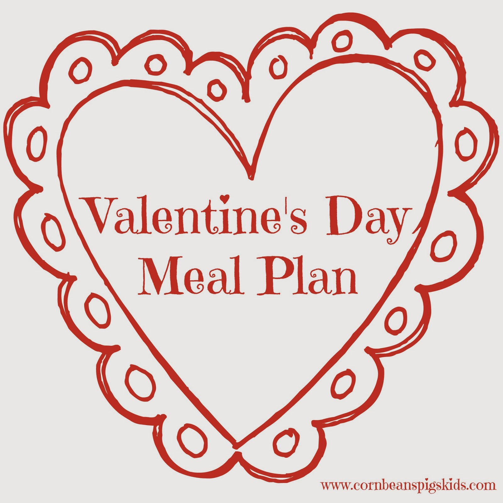 Valentine's Day Menu Plan