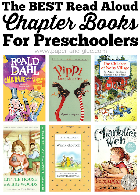 The BEST Read Aloud Chapter Books For Preschoolers- great book list with classic and unique choices.