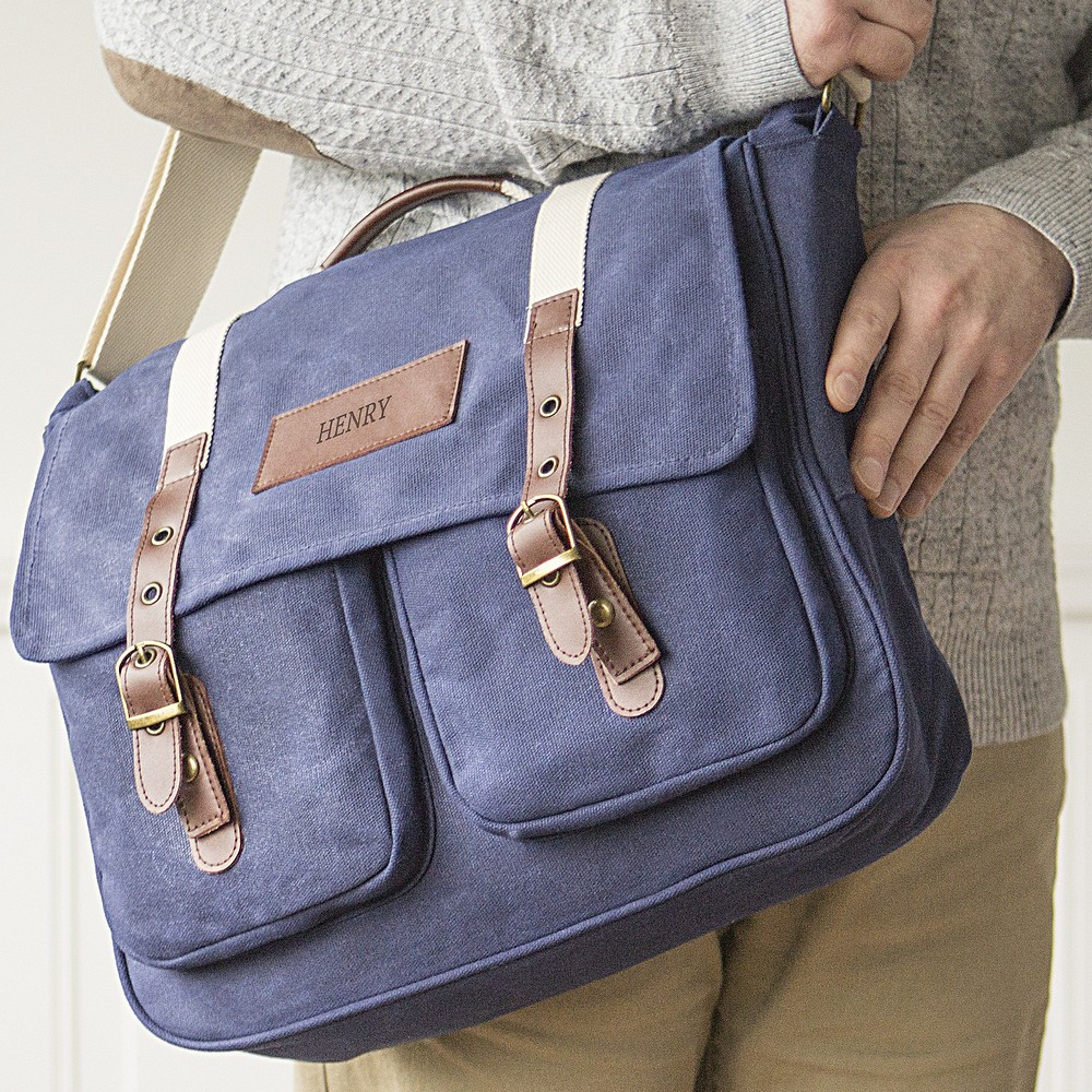 Personalized Men's Messenger Bag