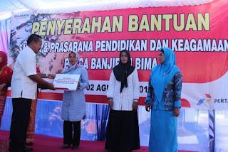 PT. Pertamina Beri Bantuan Rp1,49 Milyar Melalui Program Rehabilitasi Pasca Banjir