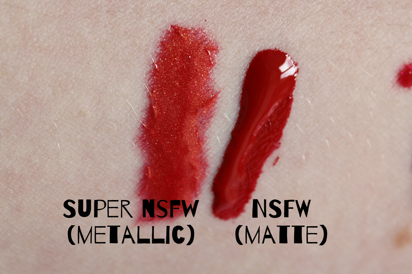 Nothing Rhymes With Rachel Occ Lip Tar Swatches - Reds-8017