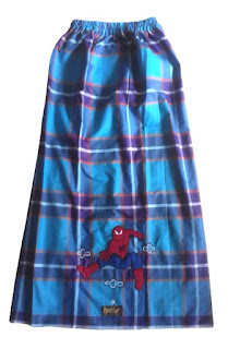 Sarung Instan Biru Spiderman new
