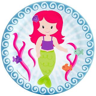 Mermaid Under The Sea Dessert Plates