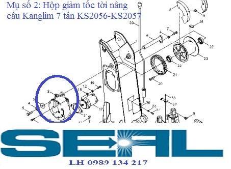 Hộp giảm tốc tời cần cẩu Kanglim KS2056-KS2057-H1015152r1