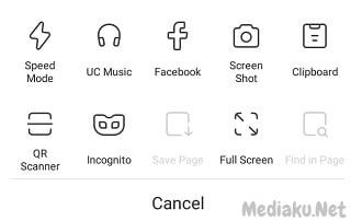 Ambil Screenshot Dengan UC Browser