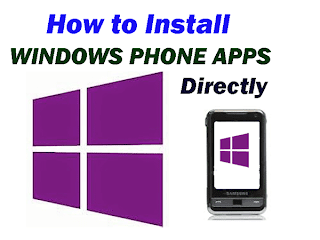 Install Windows Phone APps Directly