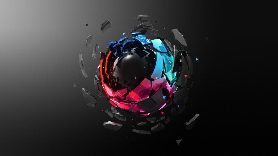 Digital Art, Colorful, Sphere, 4K, #4.2033