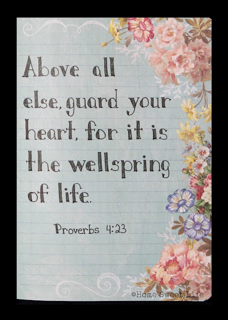 Scripture Writing, Proverbs 4:23