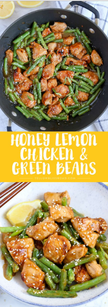 This Honey Lemon Chicken and Green Beans Stir Fry has a ton of flavor and can have dinner on the table in just 20 minutes!
