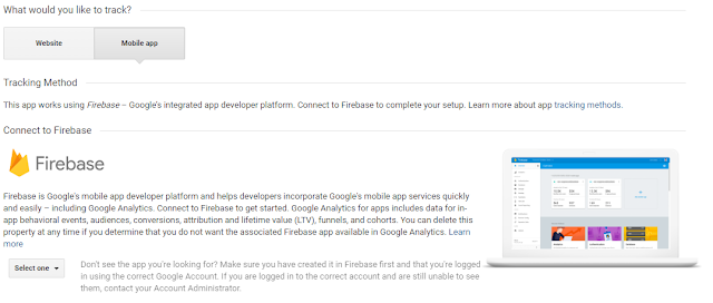 Add a Mobile App to New Property on Google Analytics