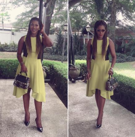 Stephanie Okereke Linus looks lovely in flared dress