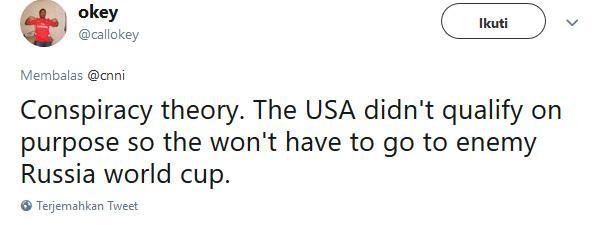 Cuitan Kekecewaan Fans sepakbola Amerika Serikat karena gagal lolos ke Piala Dunia 2018