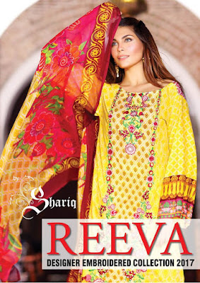 Shariq Reeva designer embroidered collection 2017 for girls