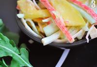 salada de manga com kani