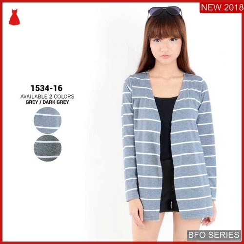 BFO124B28 BAJU Model CARDIGAN BLOUSE Jaman Now ATASAN BMGShop
