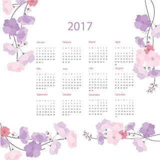 2017カレンダー無料テンプレート180