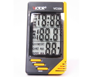 Jual Victor VC-330 Max & Min Temperature,Humidity memory,Time,Calender