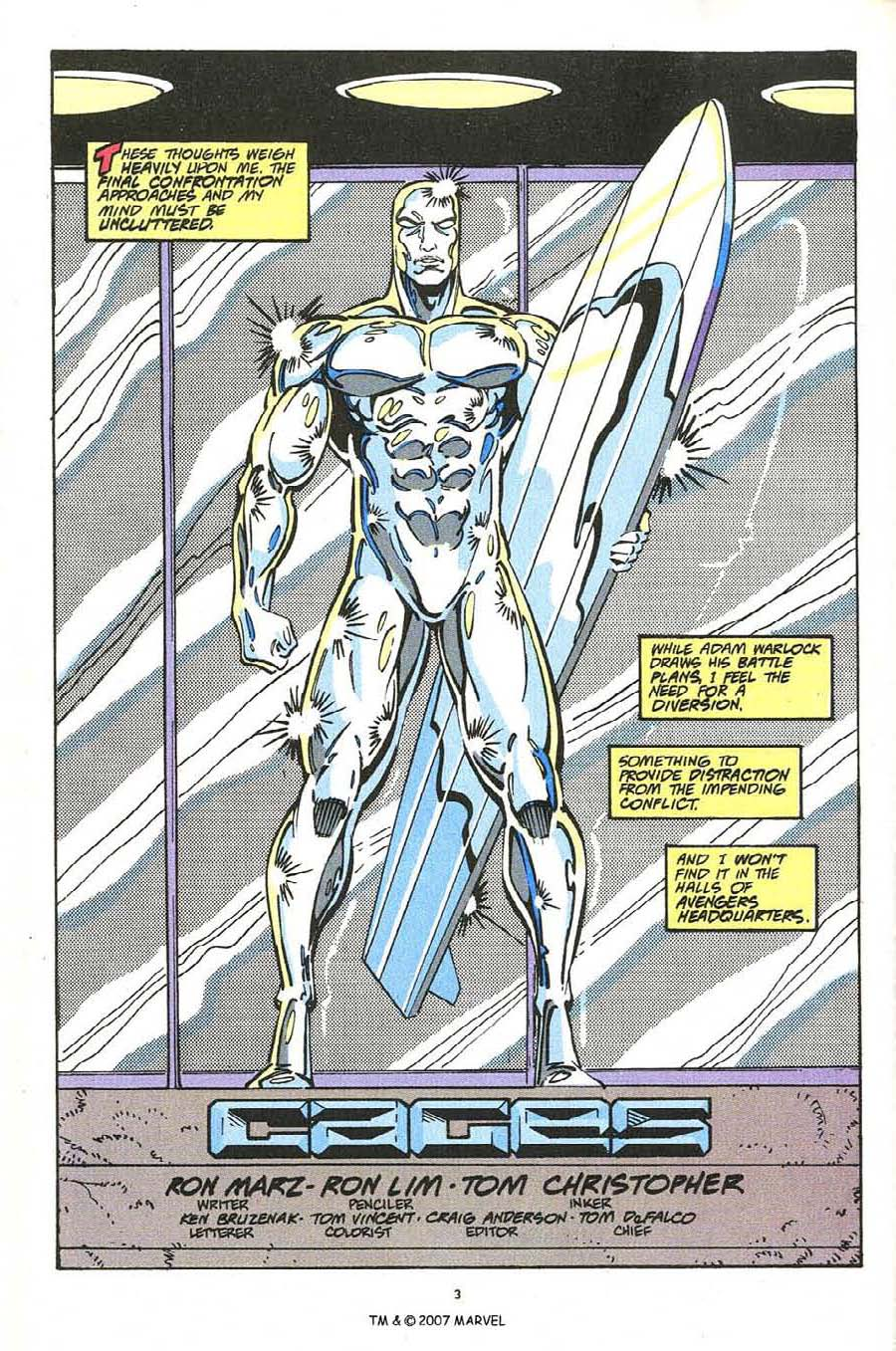 Read online Silver Surfer (1987) comic -  Issue #54 - 5