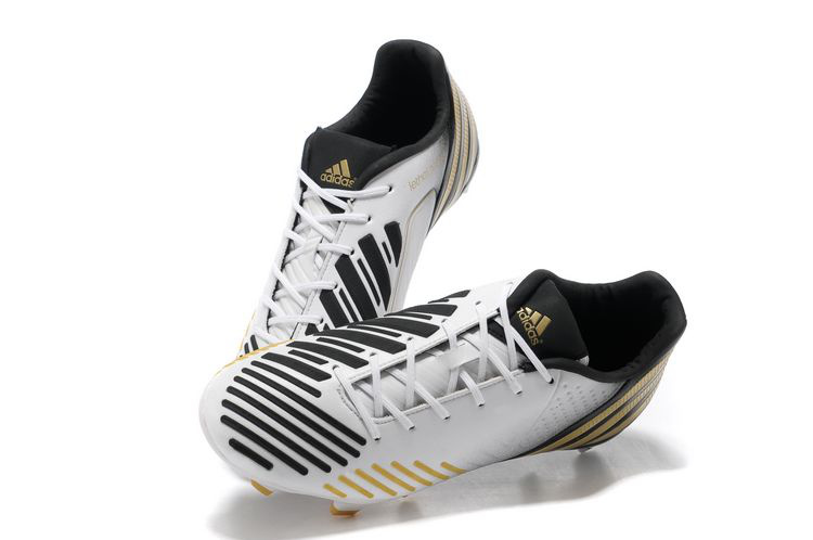 5b4183e5f3a uk adidas predator lz db white black gold shoes f2e1c 72c38  official on  firm ground surfaces thanks to the unique adidas traxion 2.0 fg stud  configuration.