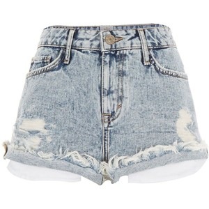 River Island light acid wash ruby denim short