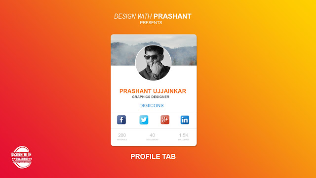 PROFILE TAB UI | DESIGN WITH PRASHANT